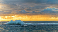 Splashy Sunrise Seascape