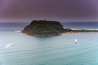 Barrenjoey Headland and boats