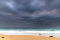 Overcast and Cloudy Morning Seascape