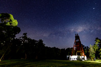 The old Mine Shaft under the Milky Way Night Sky