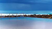 Stormy Sea Pool Seascape
