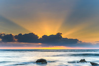 Sunrise Seascape and Sun Rays