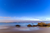 Rocky Seascape with Stars